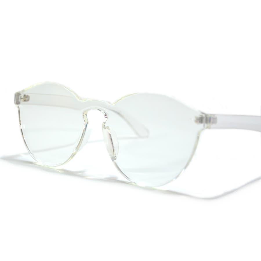 伊達メガネ サングラス フレームレス フレーム無し 縁なし 丸メガネ メンズ レディース 6