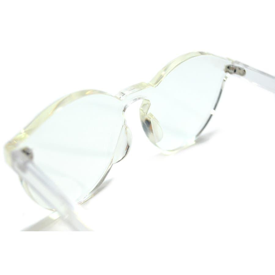 伊達メガネ サングラス フレームレス フレーム無し 縁なし 丸メガネ メンズ レディース 8