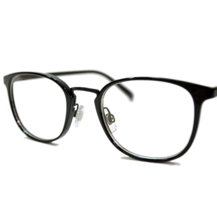 【全5色】 伊達メガネ サングラス ライトカラーレンズ ウェリントン ボストン ボスリントン 薄い色 伊達めがね だてめがね丸メガネ丸眼鏡 メンズ レディース アジアンフィット カラーレンズサングラス 10