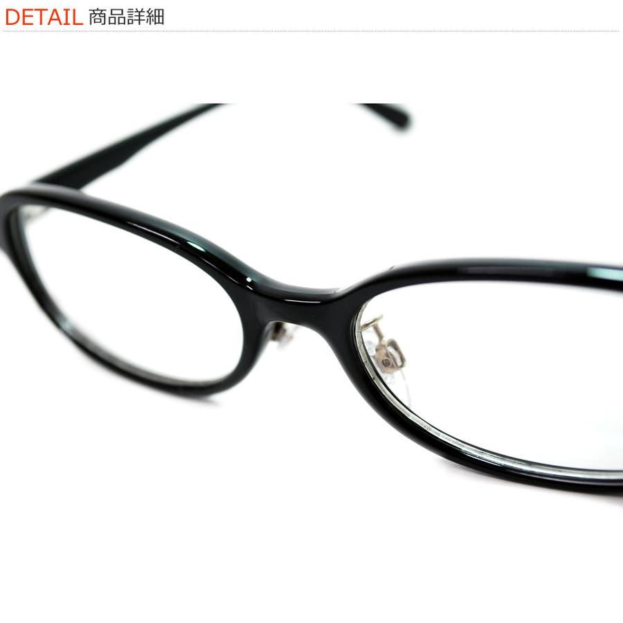 【全4色】 伊達メガネ オーバルタイプ 黒縁 黒ぶち 伊達めがね だてめがね メンズ レディースレンズ アジアンフィット 8