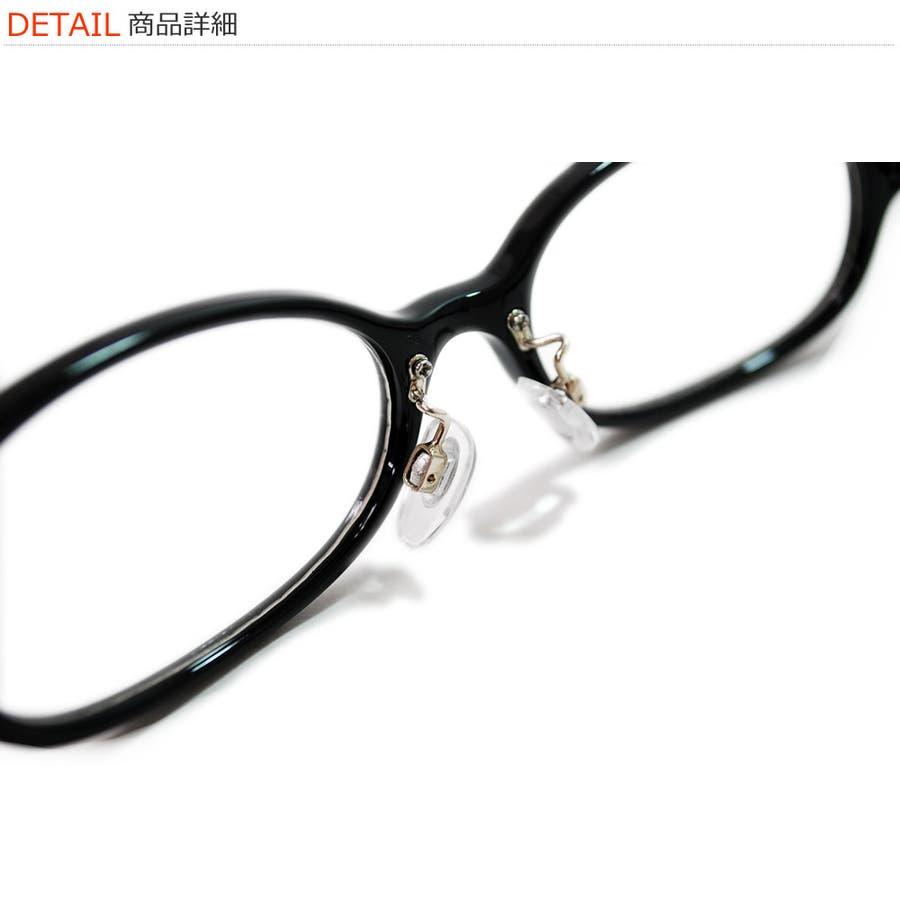 【全4色】 伊達メガネ オーバルタイプ 黒縁 黒ぶち 伊達めがね だてめがね メンズ レディースレンズ アジアンフィット 9