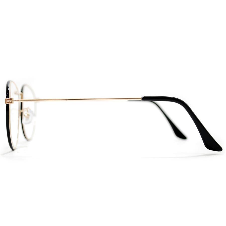 【全3色】 伊達メガネ サングラス 丸メガネ ボストン 細ぶち 細いフレーム メンズ レディース 9