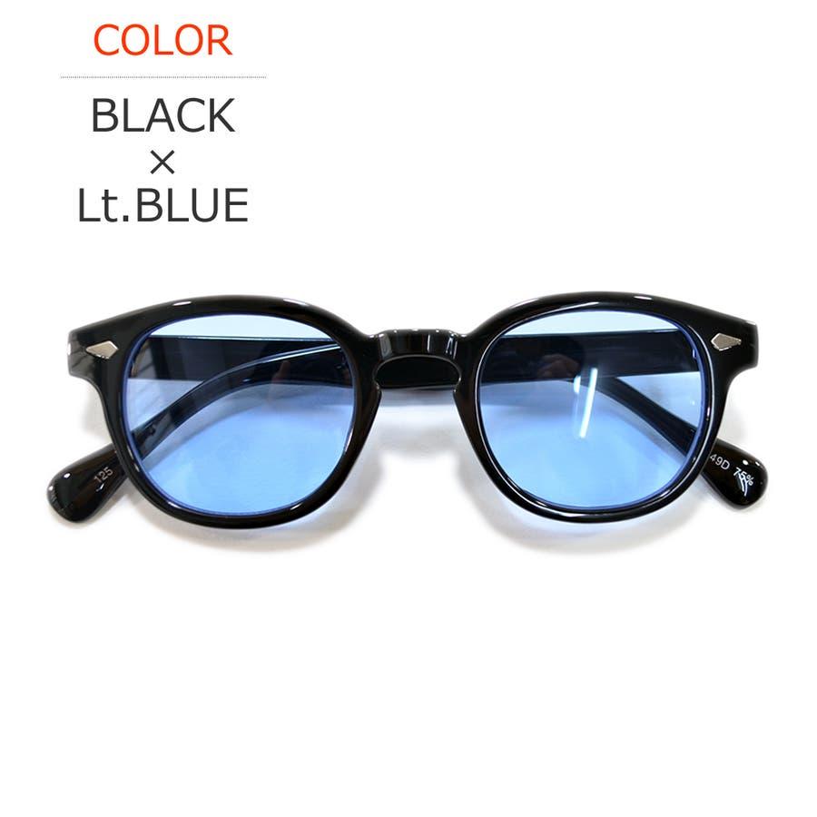 【全6色】 伊達メガネ サングラス ボストン ウェリントン ライトカラーレンズ 薄い色 伊達眼鏡 ダテメガネ 丸メガネ 丸めがね丸眼鏡メンズ レディース 丸型 カラーレンズサングラス 60