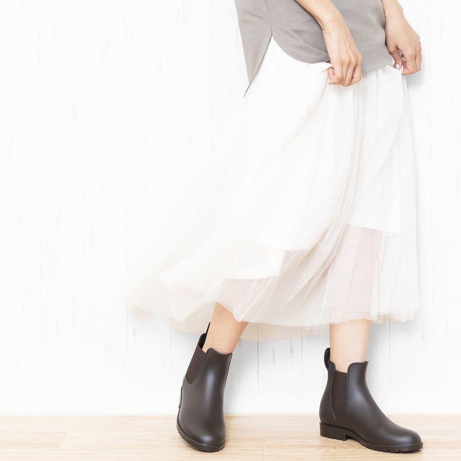 サイドゴアブーツ レインブーツ ブーツ 靴 シューズ M L 24cm 24.5cm 25cm レディース 春夏 ミリアンデニ 6