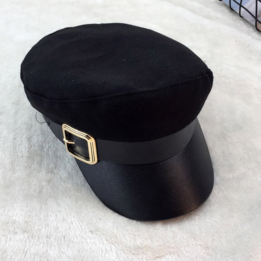 キャスケット レディース 小顔効果 キャップ 無地 ハンチング帽 つば付き 秋冬 帽子 21