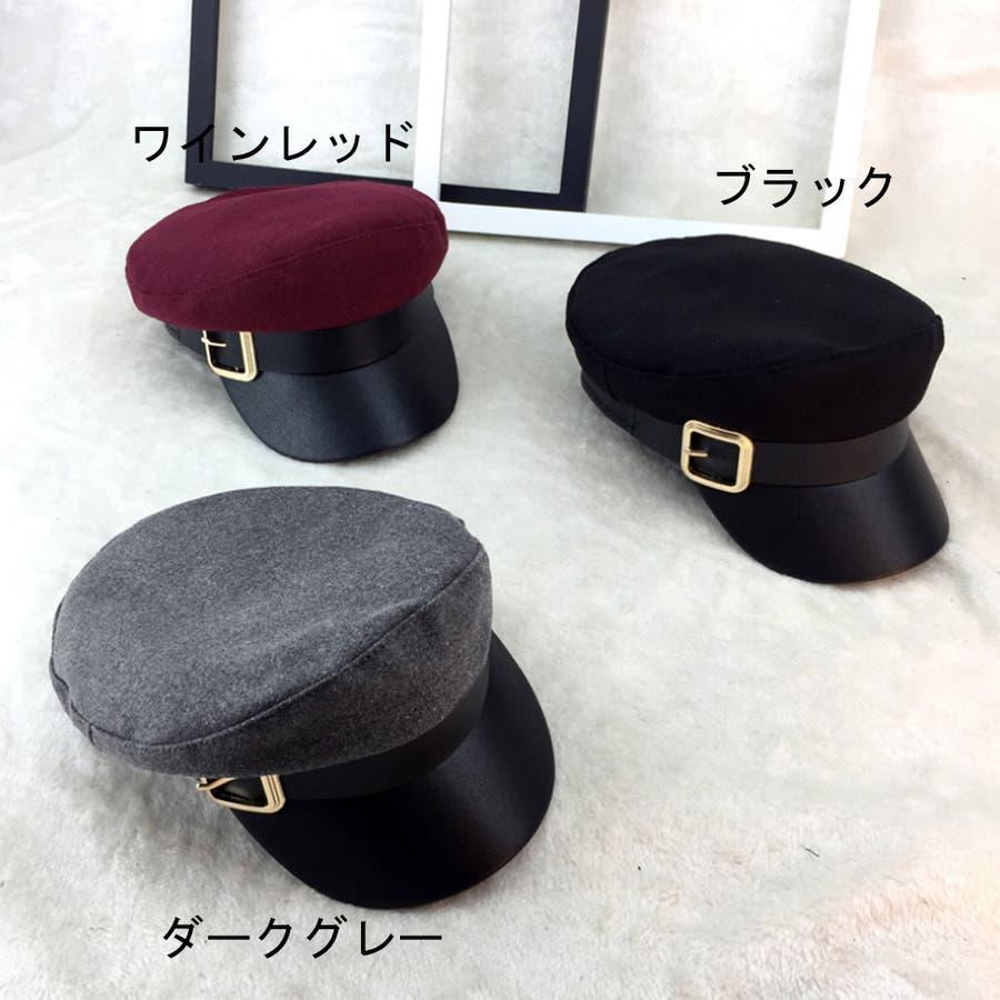 キャスケット レディース 小顔効果 キャップ 無地 ハンチング帽 つば付き 秋冬 帽子 5
