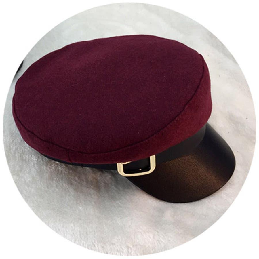 キャスケット レディース 小顔効果 キャップ 無地 ハンチング帽 つば付き 秋冬 帽子 6