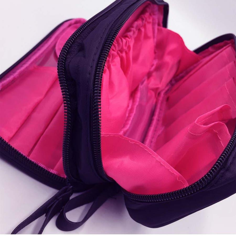 コスメポーチ レディース 化粧ポーチ 機能的な 大容量ケース メイクポーチ 収納 バッグ 人気 8