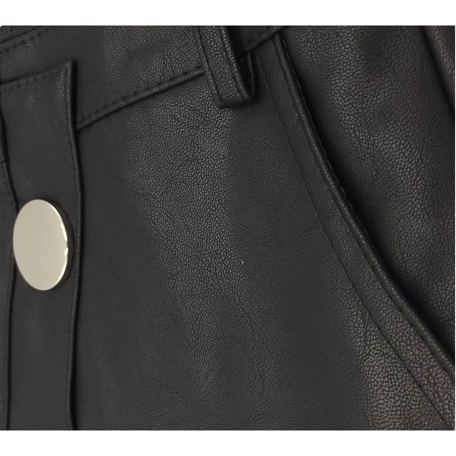 タイトスカート レディース ミニスカート おしゃれ ミニフェイクレザー PU 6