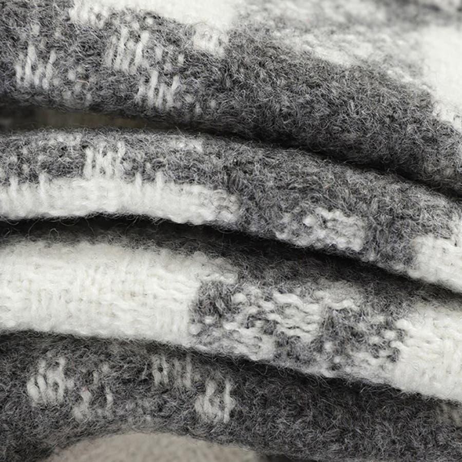 タイトスカート チェック柄 ボトムス レデイース ハイウエスト インナーパンツ付き ファスナー付き 3