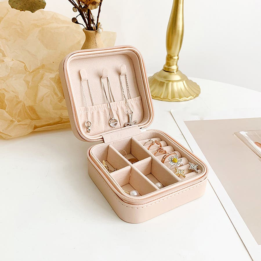 アクセサリーケース 携帯用 アクセサリーボックス ポータブル ジュエリー 収納ケース 小物 ネックレス 収納 指輪 7