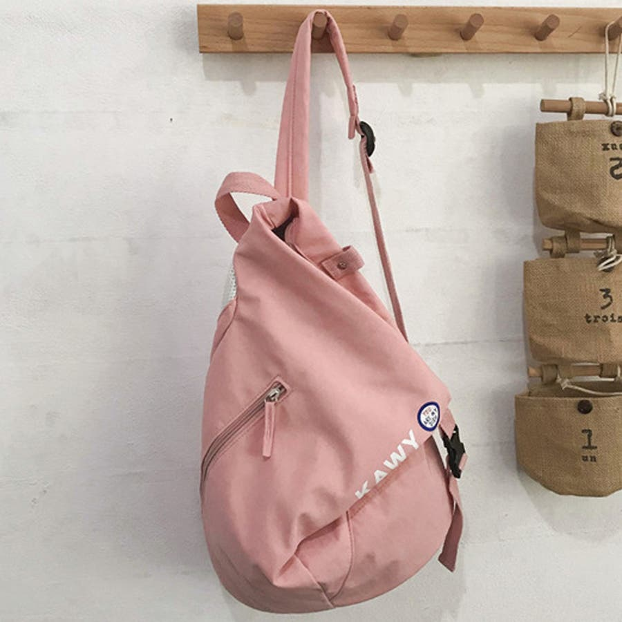 リュック レディース リュックサック ディパック バックパック A4 軽量 かばん 三角 通学 鞄 87