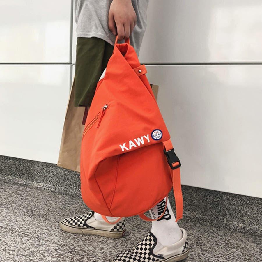 リュック レディース リュックサック ディパック バックパック A4 軽量 かばん 三角 通学 鞄 4