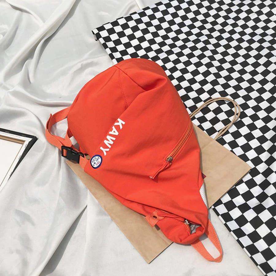 リュック レディース リュックサック ディパック バックパック A4 軽量 かばん 三角 通学 鞄 5