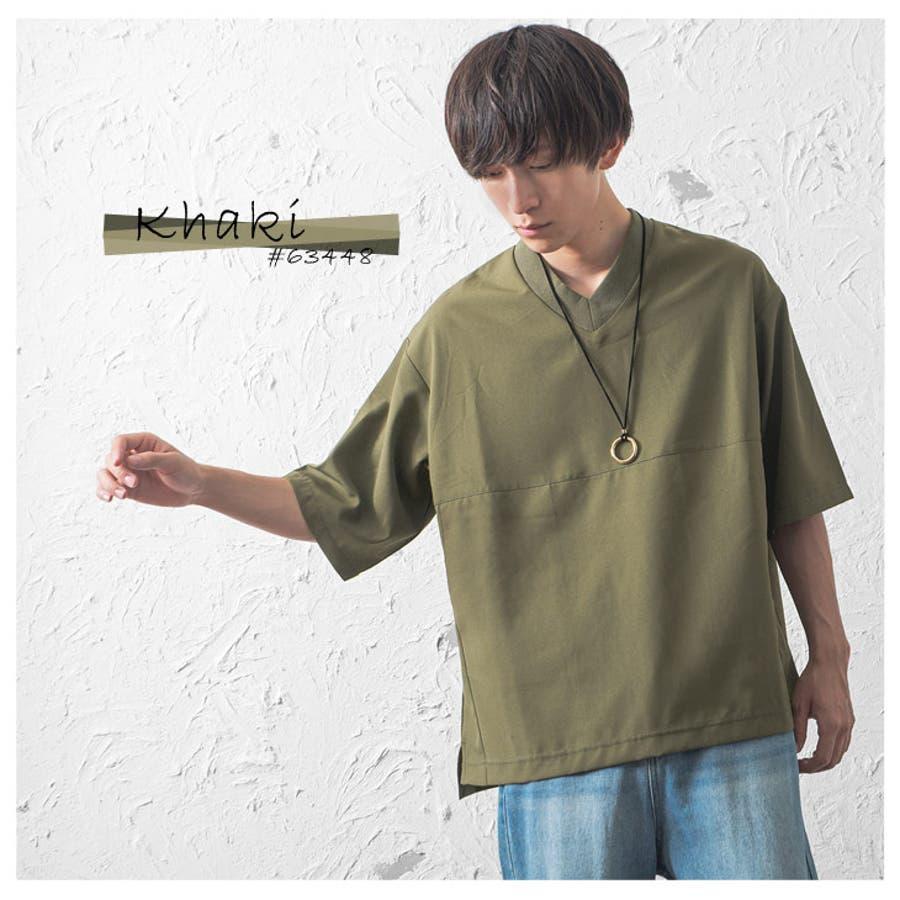 ビッグTシャツ メンズ ビッグシルエットTシャツ オーバーサイズ Tシャツ Vネック Tシャツ プルオーバー 半袖Tシャツドロップショルダー 5分袖 Tシャツ 五分袖 ゆるTシャツ ゆったり 大きいサイズ 韓国 ファッション 春服 春 夏服 春夏メンズファッション モード系 4