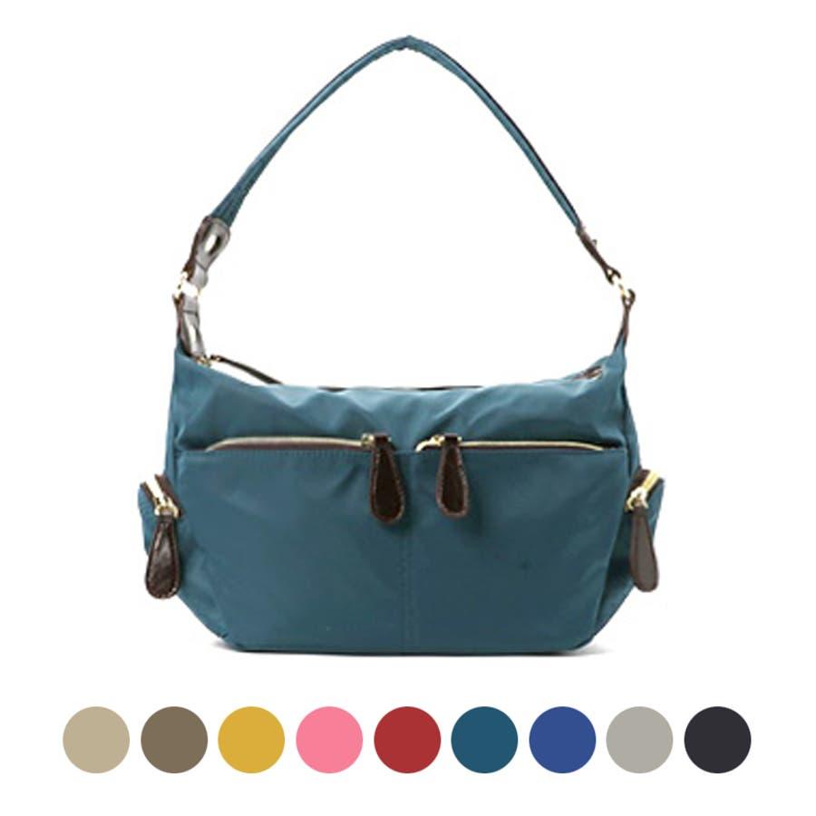 e6d071832bd8 2WAY6colors 超軽量 ナイロンバッグ ポケット付きナチュラル トートバッグ ショルダー バッグ BAGbag ママバッグマザーズ