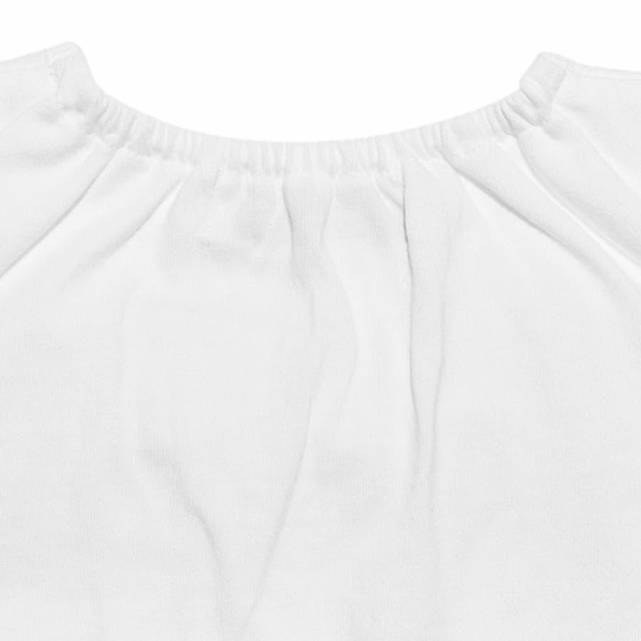 子供服 女の子 Tシャツ 半袖 普段着 通園着 ベビーサイズ 綿100%チェック柄リボンつき オフホワイト パープル 80cm90cm 【アイアムマリリン IamMarilyn】 5