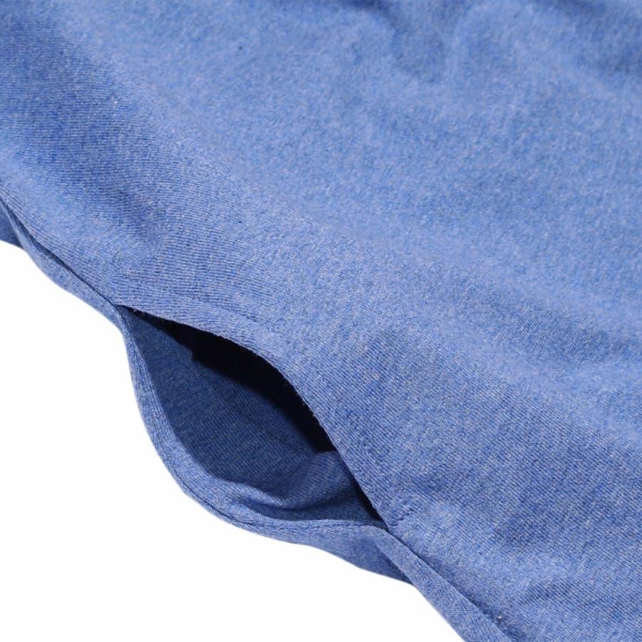 子供服 女の子 ワンピース・ジャンパースカート 半袖 普段着 通学着 お出かけ着 綿100%リボン付き後ろフレアーAライン ブルーパープル 140cm 150cm 160cm 【アイアムマリリン IamMarilyn】 5