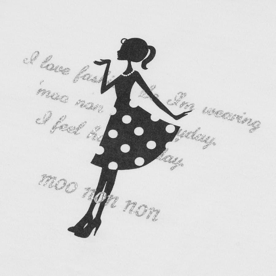 子供服 女の子 Tシャツ 半袖 普段着 通学着 綿100%女の子&ロゴプリント ピンク オフホワイト 120cm 130cm140cm 150cm 160cm 【むーのんのん moononnon】 8