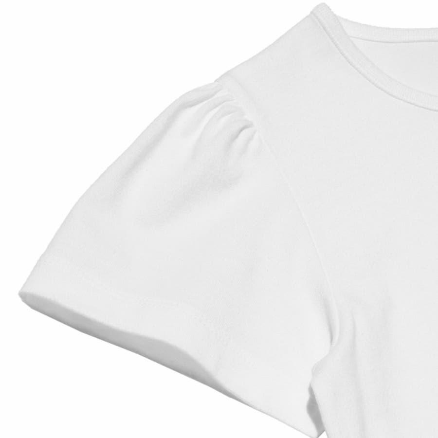 子供服 女の子 Tシャツ 半袖 普段着 通学着 綿100%女の子&ロゴプリント ピンク オフホワイト 120cm 130cm140cm 150cm 160cm 【むーのんのん moononnon】 9