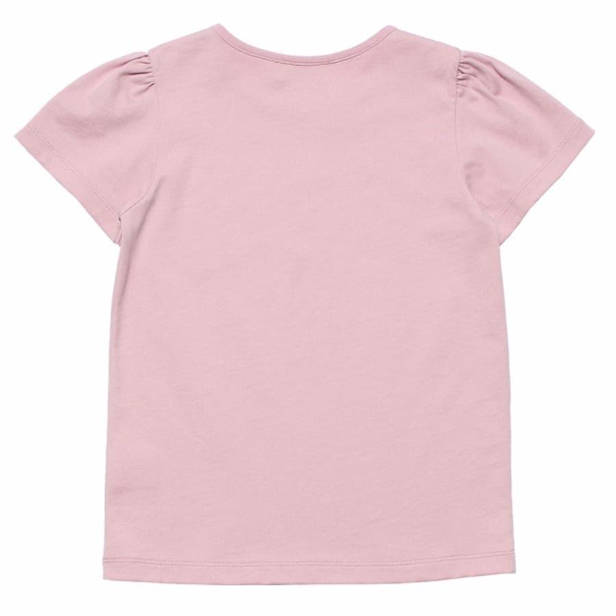 子供服 女の子 Tシャツ 半袖 普段着 通学着 綿100%女の子&ロゴプリント ピンク オフホワイト 120cm 130cm140cm 150cm 160cm 【むーのんのん moononnon】 3