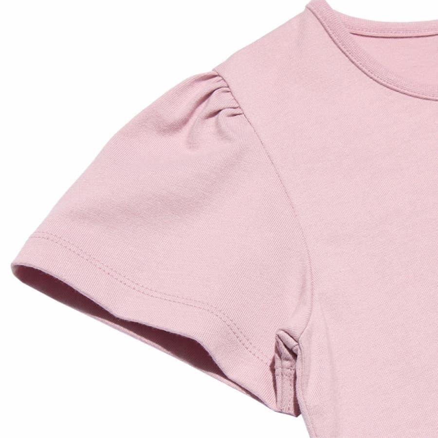 子供服 女の子 Tシャツ 半袖 普段着 通学着 綿100%女の子&ロゴプリント ピンク オフホワイト 120cm 130cm140cm 150cm 160cm 【むーのんのん moononnon】 5