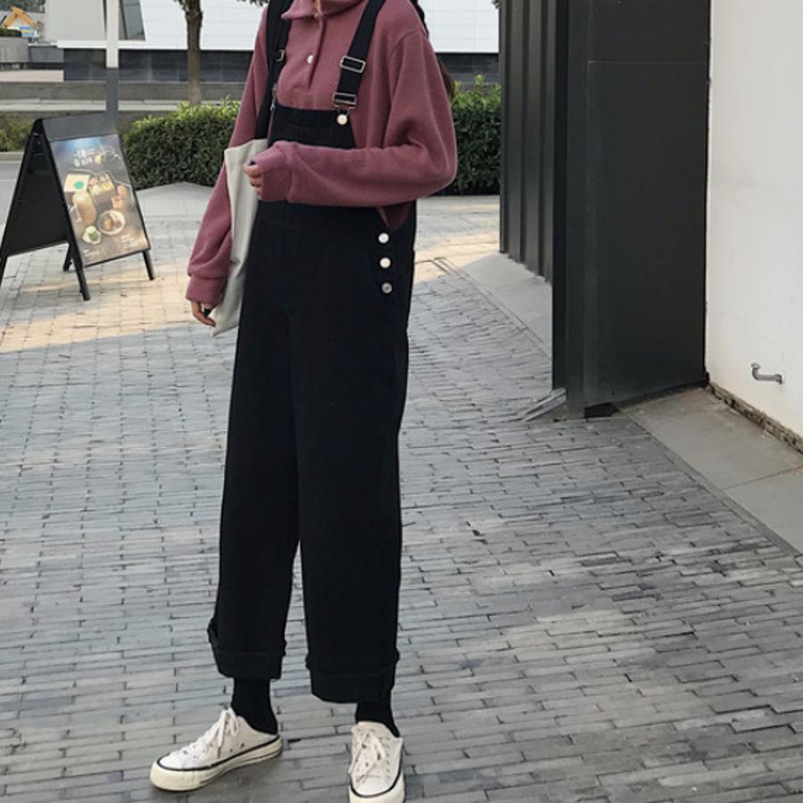 オーバーオール サロペット オールシーズン パンツ 可愛い 韓国 オルチャン パンツ 学生風 カジュアル 9