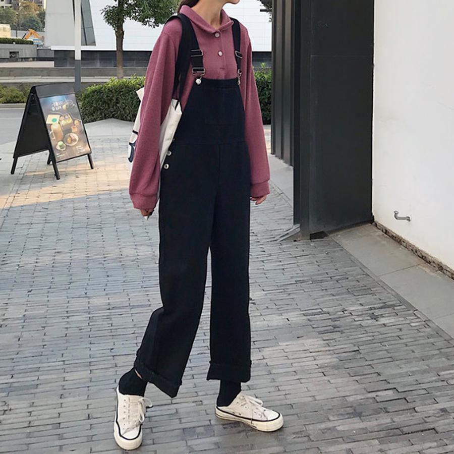 オーバーオール サロペット オールシーズン パンツ 可愛い 韓国 オルチャン パンツ 学生風 カジュアル 22