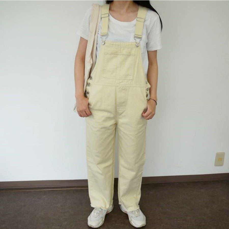 オーバーオール サロペット オールシーズン パンツ 可愛い 韓国 オルチャン パンツ 学生風 カジュアル 2