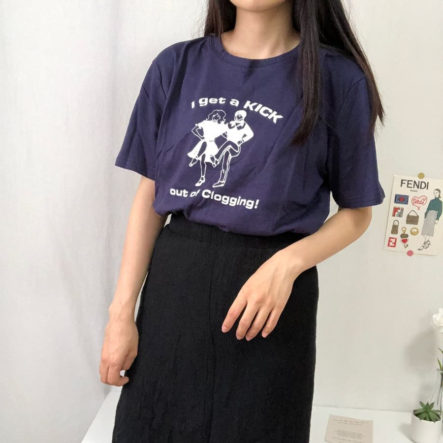 ダンスTシャツ Tシャツ ダンス レトロ 夏 カジュアル ゆるT プチプラ 韓国 オルチャン  7