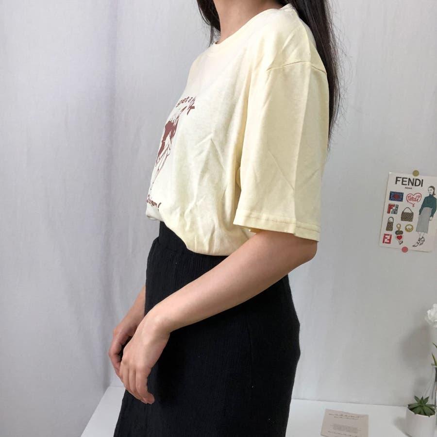 ダンスTシャツ Tシャツ ダンス レトロ 夏 カジュアル ゆるT プチプラ 韓国 オルチャン  2