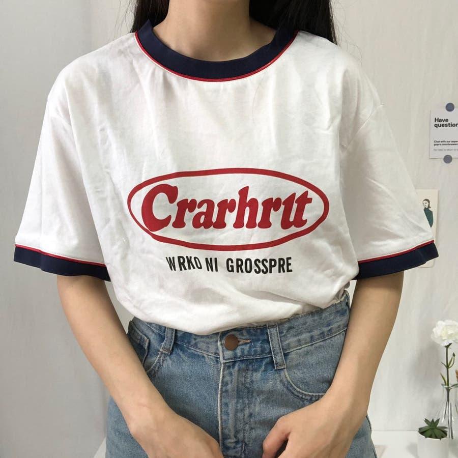 Tシャツ ロック レトロ 韓国 カジュアル 大きめサイズ オーバーサイズ ロゴT 20