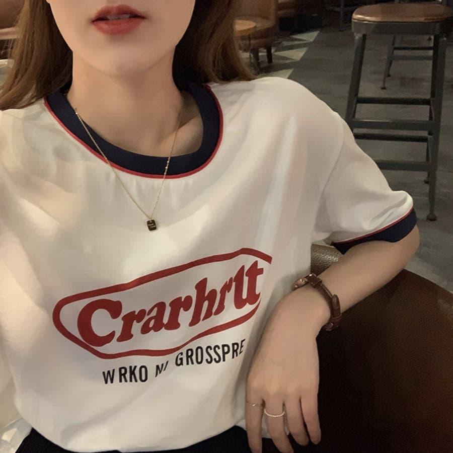 Tシャツ ロック レトロ 韓国 カジュアル 大きめサイズ オーバーサイズ ロゴT 2