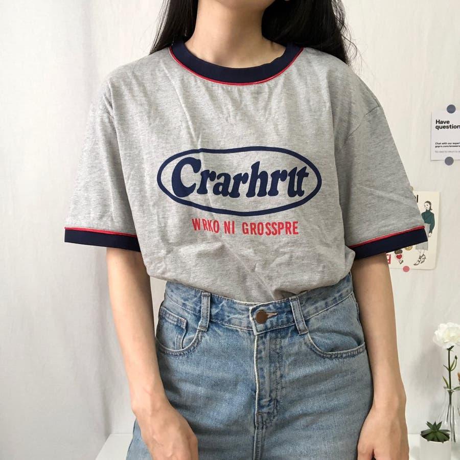 Tシャツ ロック レトロ 韓国 カジュアル 大きめサイズ オーバーサイズ ロゴT 28