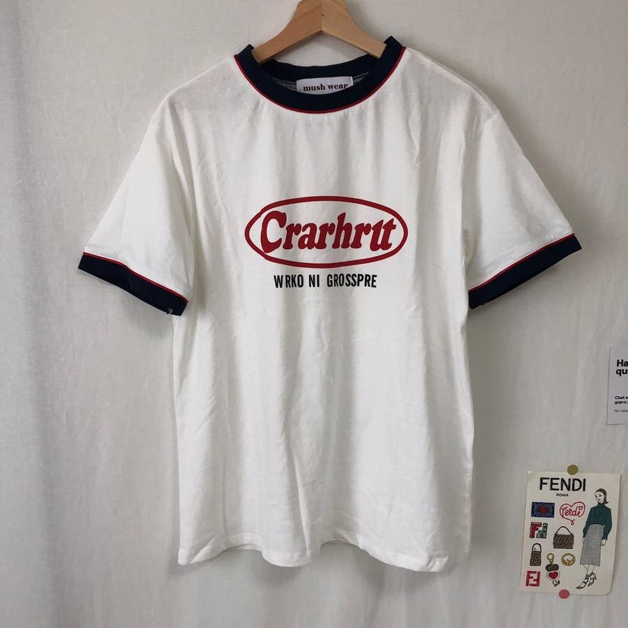 Tシャツ ロック レトロ 韓国 カジュアル 大きめサイズ オーバーサイズ ロゴT 4