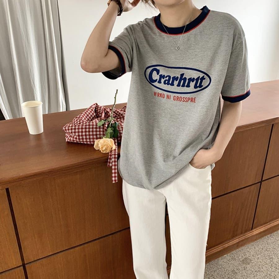 Tシャツ ロック レトロ 韓国 カジュアル 大きめサイズ オーバーサイズ ロゴT 6