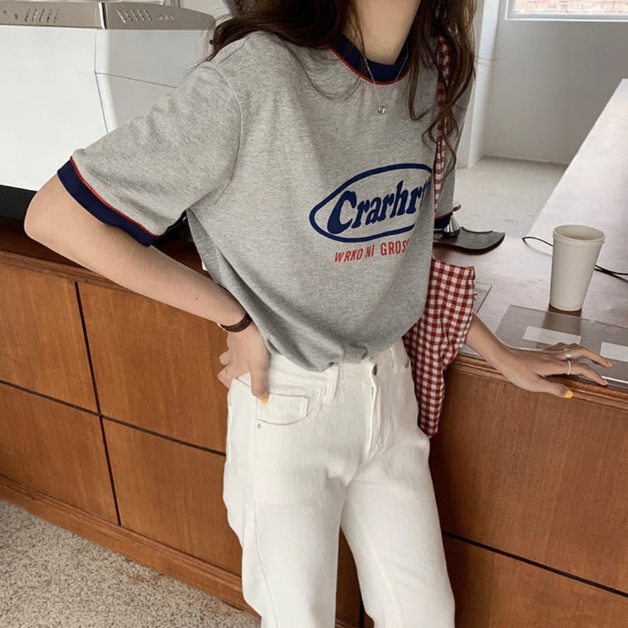 Tシャツ ロック レトロ 韓国 カジュアル 大きめサイズ オーバーサイズ ロゴT 8