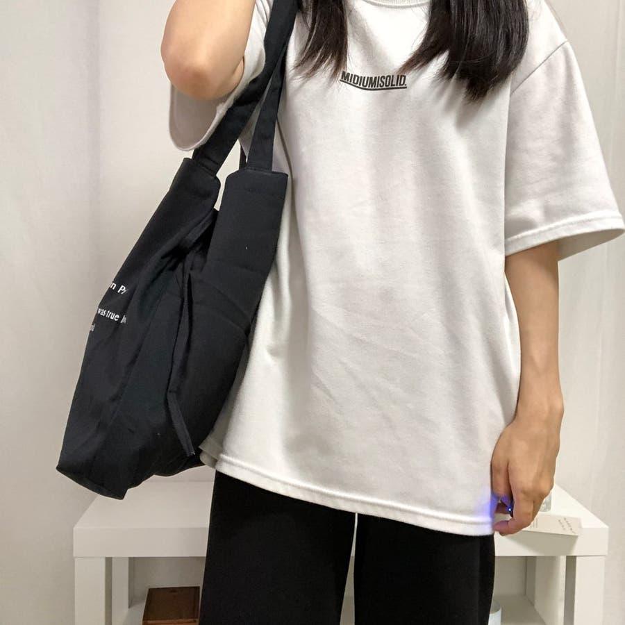 紐付きトートバッグ トートバッグ バッグ トート エコバッグ お買い物バッグ プチプラ 大容量 韓国 シンプル 可愛い 8