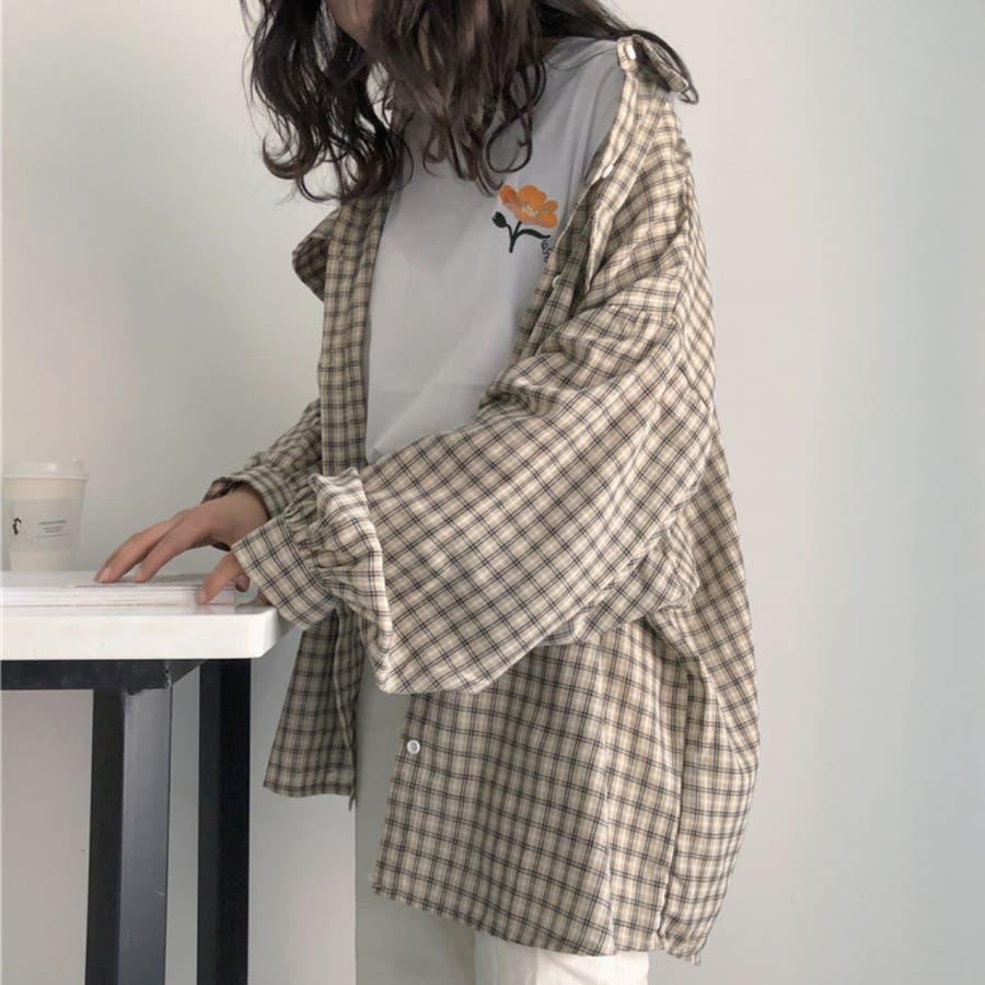 たぽ袖シャツ たぽ袖 シャツ オーバーサイズ ゆったり 韓国 プチプラ オルチャン  3