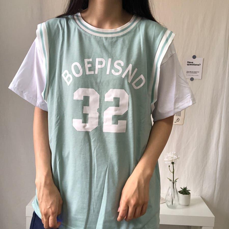 ユニフォーム風Tシャツ バスケ ユニフォーム風 Tシャツ 韓国 オーバーサイズ オルチャン  1