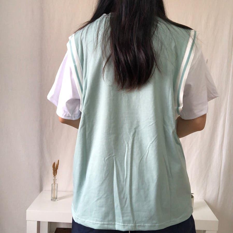 ユニフォーム風Tシャツ バスケ ユニフォーム風 Tシャツ 韓国 オーバーサイズ オルチャン  4