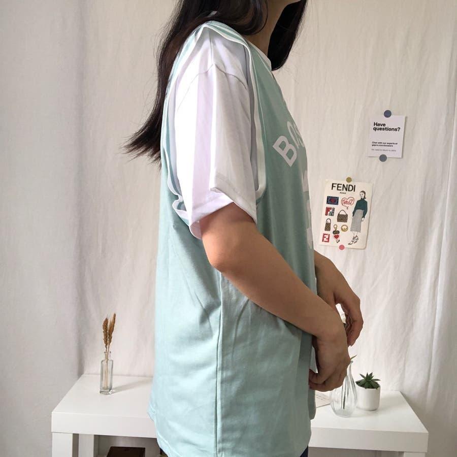 ユニフォーム風Tシャツ バスケ ユニフォーム風 Tシャツ 韓国 オーバーサイズ オルチャン  3