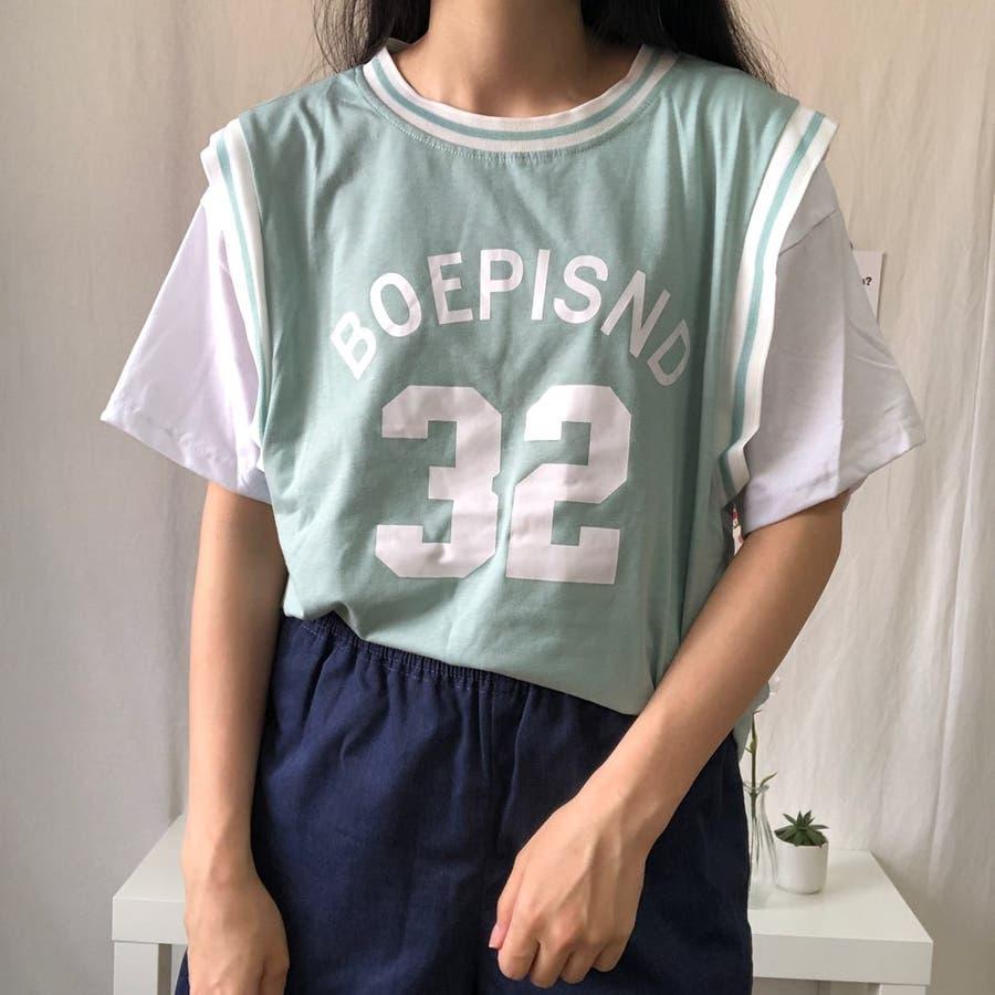 ユニフォーム風Tシャツ バスケ ユニフォーム風 Tシャツ 韓国 オーバーサイズ オルチャン  7