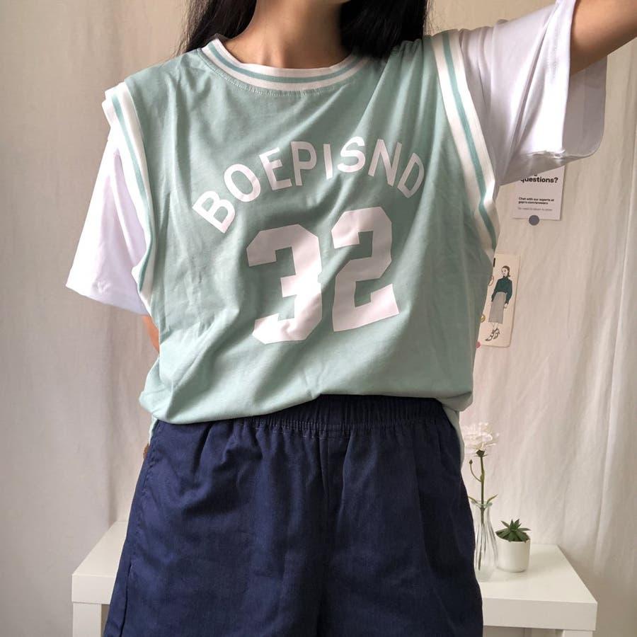 ユニフォーム風Tシャツ バスケ ユニフォーム風 Tシャツ 韓国 オーバーサイズ オルチャン  8