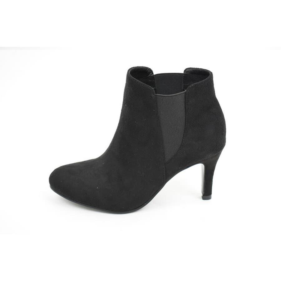 定番のサイドゴアショートブーツ♪ピンヒールで足元の女性らしさアップ!ベーシックな中にも上質さが溢れる一足です。選べるスエード&スムース素材。【サイドゴアレディース ショートブーツ ハイヒール 】 7