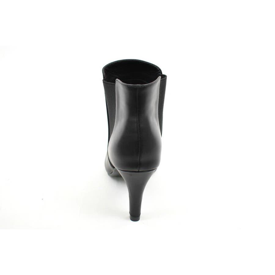 定番のサイドゴアショートブーツ♪ピンヒールで足元の女性らしさアップ!ベーシックな中にも上質さが溢れる一足です。選べるスエード&スムース素材。【サイドゴアレディース ショートブーツ ハイヒール 】 8