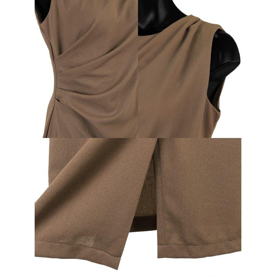 Tikaholic ティカホリック キャバドレス ワンカラー タイト ミニドレス ブラウン ブラック 8