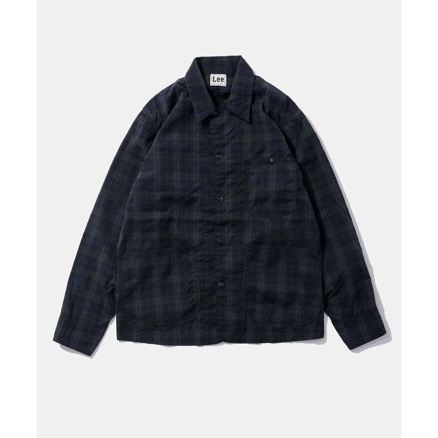 Lee/別注シアサッカー カバーオールジャケット 108