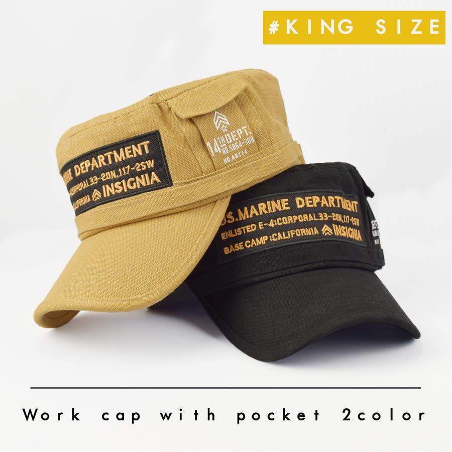 4682-436L ワークキャップ 帽子 Military メンズ レディース ワーカー ワッペン キャンバス ユニセックス 1