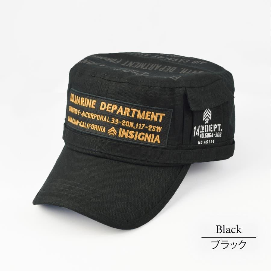 4682-436L ワークキャップ 帽子 Military メンズ レディース ワーカー ワッペン キャンバス ユニセックス 21